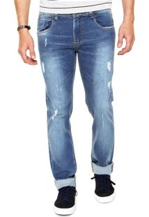 Calça Jeans Sawary Skinny Comfort Azul