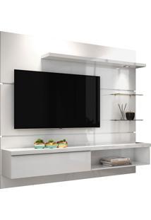 """Painel Para Tv De 55""""Com 3 Prateleiras Ores 1.8-Hb Móveis - Branco"""