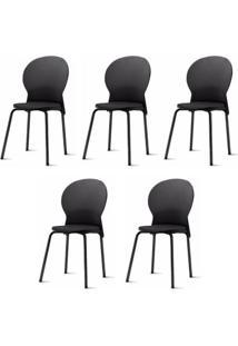 Kit 5 Cadeiras Luna Preta - 57705 - Sun House
