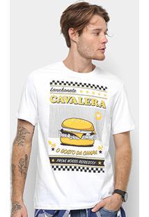 Camiseta Cavalera Hamburguer Masculina - Masculino