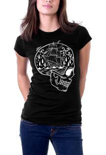 Camiseta Baby Look Holdfast Skull Ship