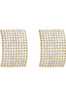 Brinco Em Ouro Amarelo 18K Com Diamante - Venus