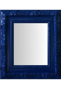 Espelho Moldura Rococó Externo 16349 Azul Art Shop