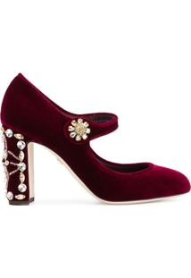 Dolce & Gabbana Scarpin Mary Jane - Vermelho