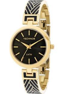 Relógio Technos Unique Feminino Analógico - 2035Mca/4P 2035Mca/4P - Feminino-Dourado