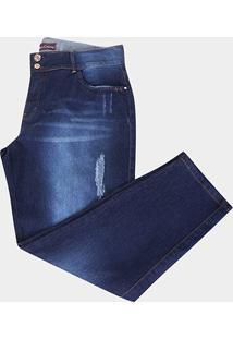 Calça Jeans Xtra Charmy Plus Size Cigarrete Feminina - Feminino