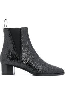 Giuseppe Zanotti Glitter Detail Ankle Boots - Preto