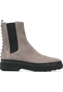 Tod'S Pull-On Ankle Boots - Cinza