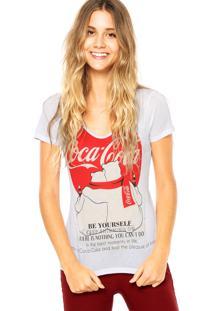 Blusa Coca-Cola Jeans Urso Branca/ Vermelha