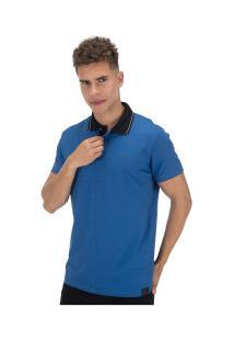 Camisa Polo Fatal Estampada 22266 - Masculina - Azul