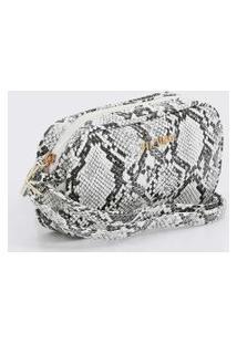 Bolsa Feminina Pochete Transversal Textura Animal Print Via Uno