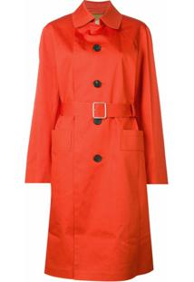 Golden Goose Trench Coat Com Cinto - Laranja