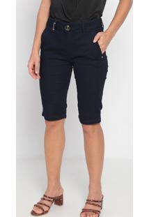 Bermuda Jeans Com Bolso- Azul Escuro- Lança Perfumelança Perfume