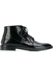 Dolce & Gabbana Ankle Boot Com Cadarço - Preto