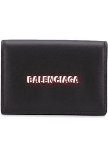 Balenciaga Carteira Cash Mini - Preto