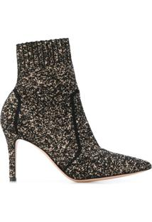Gianvito Rossi Levy 85 Knit Ankle Boots - Preto