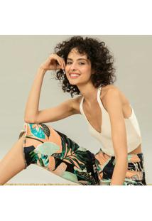 Calça Pantacourt Jeans Estampada Vivid - Lez A Lez