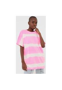 Camiseta Lança Perfume Tie Dye Neon Pink