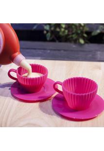 Conjunto 2 Xícaras De Silicone Culinário Para Cupcake Prana
