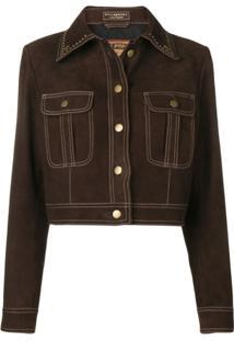 Philosophy Di Lorenzo Serafini Studded Collar Jacket - Marrom