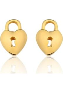 Brincos Rincawesky Coração Dourado