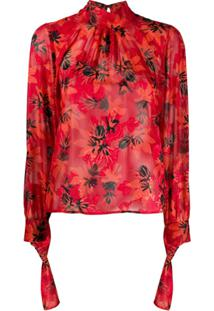 Patrizia Pepe Blusa Com Estampa Floral - Vermelho