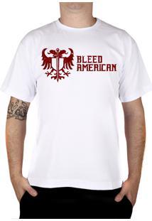 Camiseta Bleed American Squad Branca