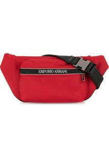Emporio Armani Bolsa Carteiro Com Estampa De Logo - Vermelho