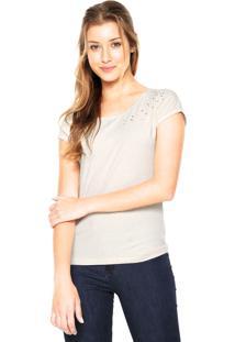 Camiseta Das Avessas Pérolas Off-White