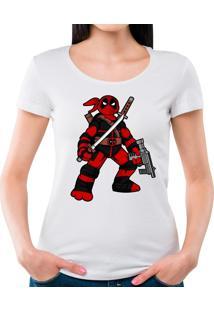 Camiseta Feminina Ninja Deadpool Geek10 - Preto