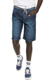 Bermuda Jeans Element Reta Desoto Walk Azul-Marinho