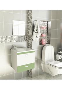 Kit Para Banheiro 3 Peças Sintético Espelho Verde Tomdo