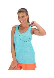 Camiseta Regata Under Armour Tech Graphic - Feminina - Azul Claro