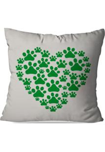 Capa De Almofada Decorativa Green Love 35X35Cm