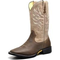 ac36c7beb3 Bota Couro Country Texana Top Franca Shoes Masculino - Masculino-Marrom+Bege