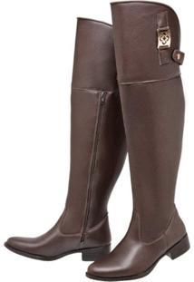 Bota Mega Boots Over The Knee Marrom