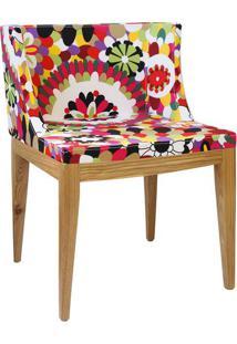 Cadeira Senhorita- Vermelha & Bege- 73X50X42Cm- Or Design