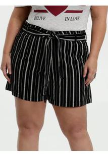 Bermuda Feminina Sarja Listrada Clochard Plus Size Razon