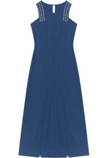 Vestido Endless Longo - Feminino-Azul