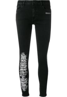 Off-White Calça Jeans Skinny - Preto