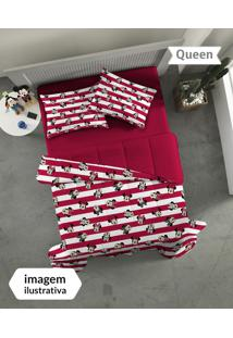 Jogo De Cama Queen 3Pçs Minnie Vermelha - Portallar