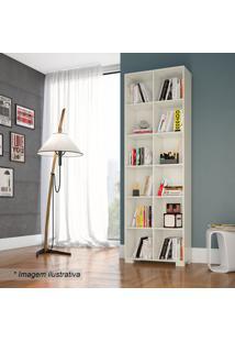Estante Para Livros- Off White- 226X74X31Cmdalla Costa