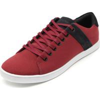 4693e4bbe73 Sapatênis Calvin Klein Recortes Vermelho