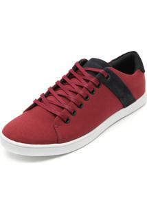 Sapatênis Calvin Klein Recortes Vermelho