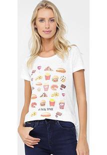 Camiseta Canal Snack Bordada - Feminino