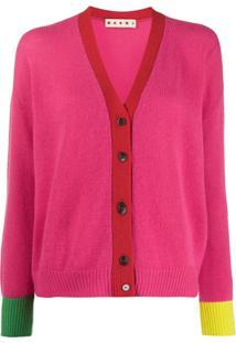 Marni Colour-Block Cardigan - Rosa