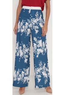 Calça Pantalona Descolada- Azul & Branca- Lança Perflança Perfume