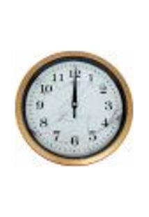 Relógio De Parede 20X20Cm Silencioso Fundo Rajado