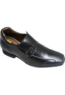 Sapato Social Sândalo Com Elevação Up - Masculino-Preto