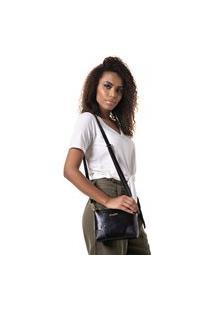 Bolsa Feminina Pequena Com Alça Transversal Preto Dhaffy
